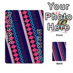 Purple And Pink Retro Geometric Pattern Playing Cards 54 Designs  Front - Joker1