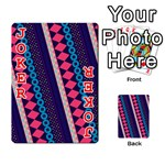 Purple And Pink Retro Geometric Pattern Playing Cards 54 Designs  Front - Joker2