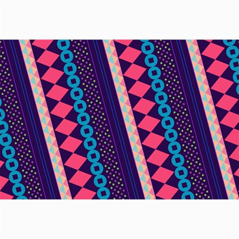 Purple And Pink Retro Geometric Pattern Collage Prints