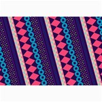 Purple And Pink Retro Geometric Pattern Collage Prints 18 x12 Print - 1