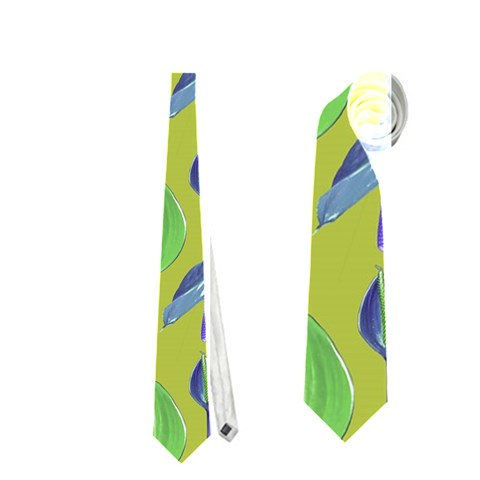 Tropical Floral Pattern Neckties (One Side)