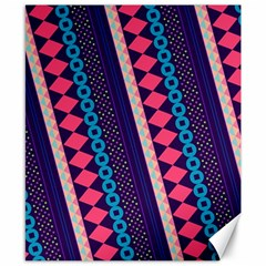 Purple And Pink Retro Geometric Pattern Canvas 8  x 10
