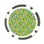 Tropical Floral Pattern Poker Chip Card Guards Front