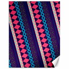 Purple And Pink Retro Geometric Pattern Canvas 12  x 16