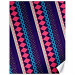 Purple And Pink Retro Geometric Pattern Canvas 12  x 16   16 x12 Canvas - 1