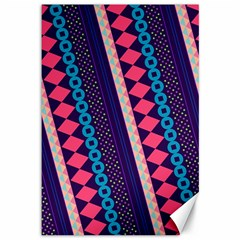 Purple And Pink Retro Geometric Pattern Canvas 12  X 18