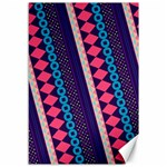 Purple And Pink Retro Geometric Pattern Canvas 12  x 18   18 x12 Canvas - 1