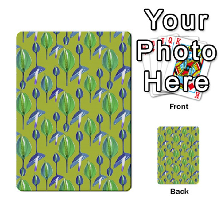Tropical Floral Pattern Multi-purpose Cards (Rectangle)