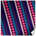 Purple And Pink Retro Geometric Pattern Canvas 16  x 16   16 x16 Canvas - 1