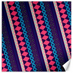 Purple And Pink Retro Geometric Pattern Canvas 20  x 20