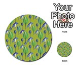 Tropical Floral Pattern Multi-purpose Cards (Round)  Back 4