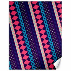 Purple And Pink Retro Geometric Pattern Canvas 18  x 24