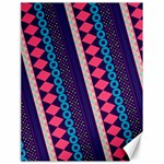 Purple And Pink Retro Geometric Pattern Canvas 18  x 24   24 x18 Canvas - 1