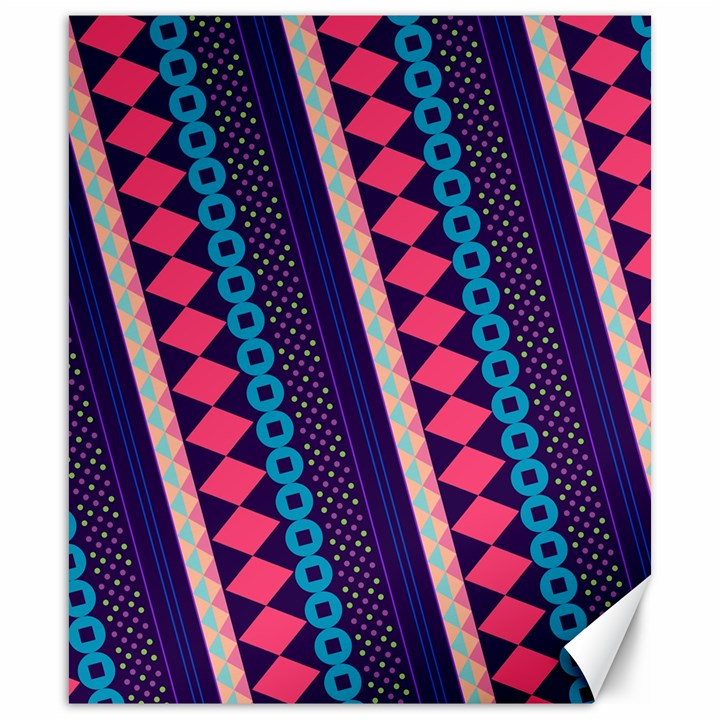 Purple And Pink Retro Geometric Pattern Canvas 20  x 24