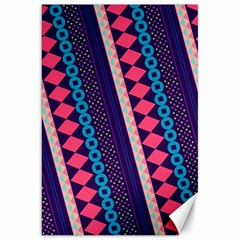 Purple And Pink Retro Geometric Pattern Canvas 20  x 30