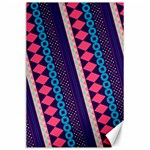 Purple And Pink Retro Geometric Pattern Canvas 24  x 36  36 x24 Canvas - 1
