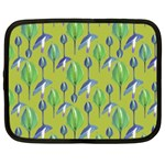 Tropical Floral Pattern Netbook Case (Large) Front