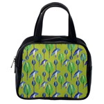 Tropical Floral Pattern Classic Handbags (One Side) Front