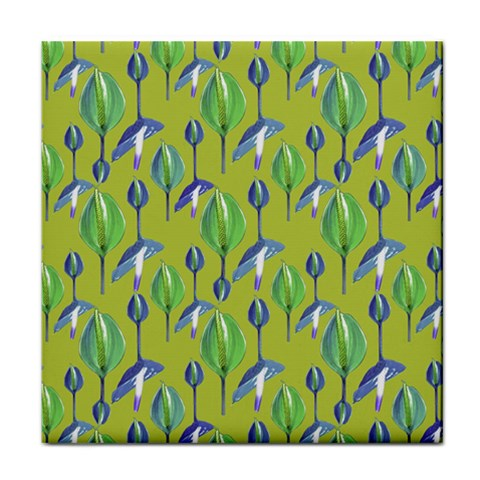 Tropical Floral Pattern Face Towel
