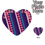 Purple And Pink Retro Geometric Pattern Playing Cards 54 (Heart)  Front - Joker2
