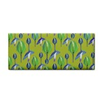 Tropical Floral Pattern Hand Towel Front