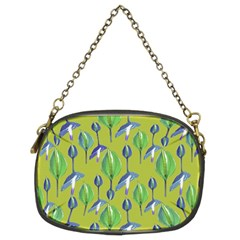 Tropical Floral Pattern Chain Purses (two Sides)