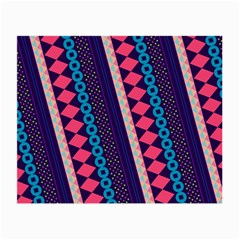Purple And Pink Retro Geometric Pattern Small Glasses Cloth (2 Side)