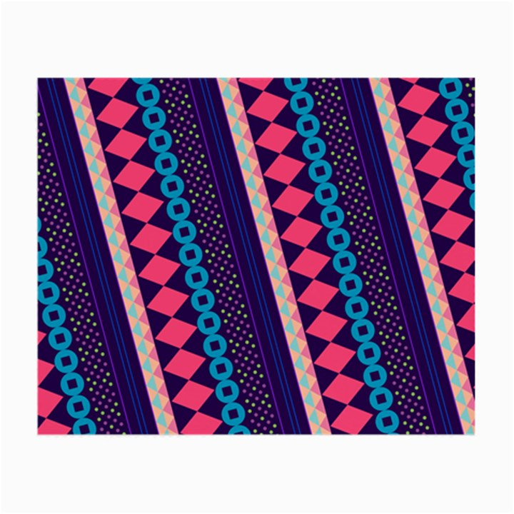 Purple And Pink Retro Geometric Pattern Small Glasses Cloth (2-Side)