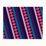 Purple And Pink Retro Geometric Pattern Small Glasses Cloth (2-Side) Back