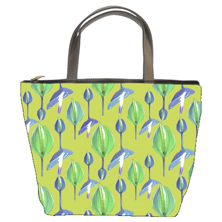 Tropical Floral Pattern Bucket Bags