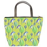 Tropical Floral Pattern Bucket Bags Back