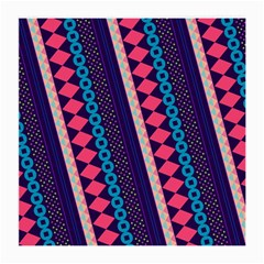 Purple And Pink Retro Geometric Pattern Medium Glasses Cloth (2-Side)