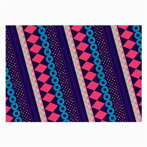Purple And Pink Retro Geometric Pattern Large Glasses Cloth