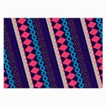 Purple And Pink Retro Geometric Pattern Large Glasses Cloth (2-Side) Front