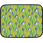 Tropical Floral Pattern Fleece Blanket (Mini) 35 x27 Blanket