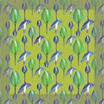 Tropical Floral Pattern Mini Canvas 8  x 8  8  x 8  x 0.875  Stretched Canvas