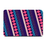 Purple And Pink Retro Geometric Pattern Small Doormat  24 x16 Door Mat - 1