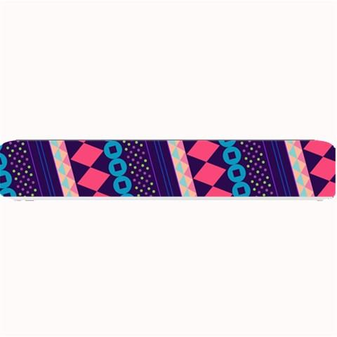 Purple And Pink Retro Geometric Pattern Small Bar Mats