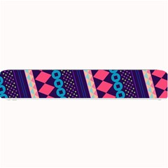Purple And Pink Retro Geometric Pattern Small Bar Mats