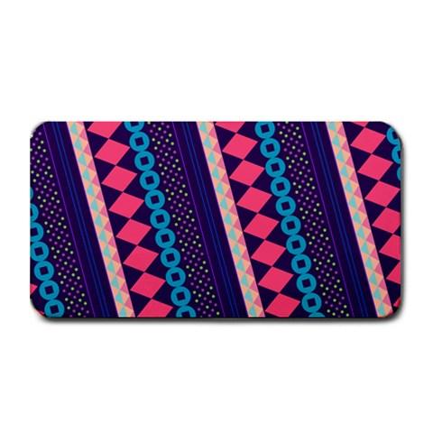 Purple And Pink Retro Geometric Pattern Medium Bar Mats