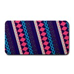 Purple And Pink Retro Geometric Pattern Medium Bar Mats 16 x8.5 Bar Mat - 1