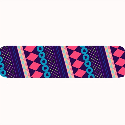 Purple And Pink Retro Geometric Pattern Large Bar Mats