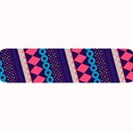 Purple And Pink Retro Geometric Pattern Large Bar Mats 34 x9.03 Bar Mat - 1