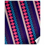 Purple And Pink Retro Geometric Pattern Canvas 11  x 14   14 x11 Canvas - 1
