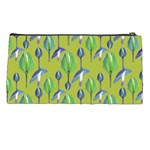 Tropical Floral Pattern Pencil Cases Back