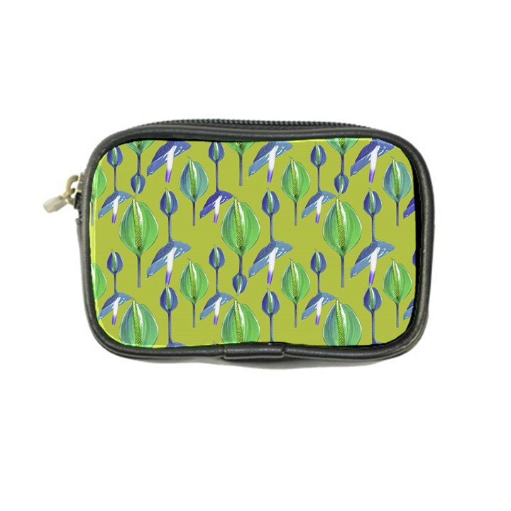 Tropical Floral Pattern Coin Purse