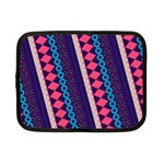 Purple And Pink Retro Geometric Pattern Netbook Case (Small)  Front