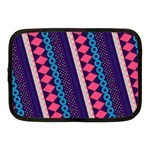 Purple And Pink Retro Geometric Pattern Netbook Case (Medium)  Front