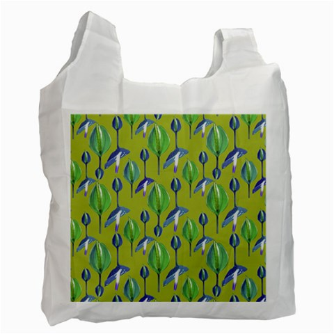 Tropical Floral Pattern Recycle Bag (One Side)