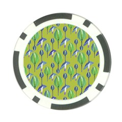 Tropical Floral Pattern Poker Chip Card Guards (10 pack)